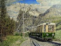 Mit der Bergbahn unterwegs von Wilhelm Brück