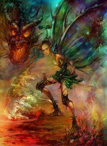 Flower fairy series__ Elf Warrior  von carol