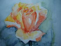 Gelbe Rose von Margit Hübner