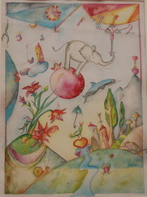 Elefant im Glück von lanakunst