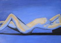 Akt in blau von Cornelia Greinke