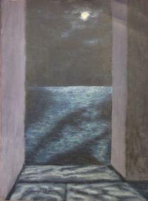 Mond über dem Meer by Detlef Georgi