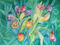 TULPENMEER AQUARELL by ulk