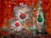 Apfel mit Birne von Peter Dreher