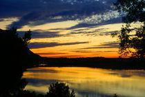 Abend am See von Gerhard Albicker