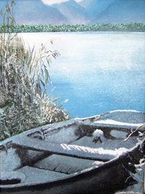 Boot im Schnee by Gräfin Vroni von Burgstein