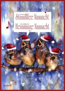 stille Nacht, heilige Nacht, Weihnachtskarte von barbara schreiber