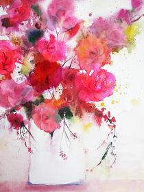 pink roses by barbara schreiber