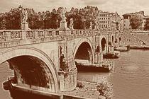 Engelsbrücke in Rom by Anja Abel