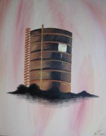 Gasometer Oberhausen, skizzenhaft von Daliah Sölkner