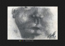 Sklave - 70cm x 50cm von Eduard Ludwig Hendel
