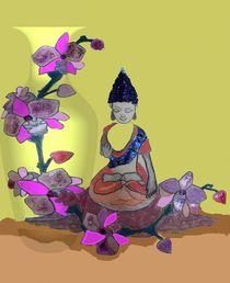 Meditation Orchidee von Gabriele Nedilka