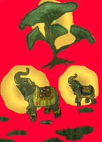 Elefant-Glücksbringer 3 by Gabriele Nedilka