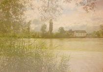 Blick über den Rhein von Gabriele Köder - Bercher