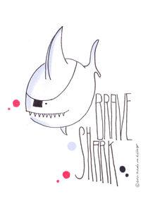 Brave Shark von Michaela von Aichberger