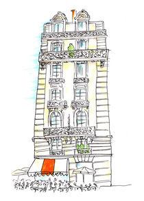 Paris Cafe Esmeralda bei Notre Dame by Michaela von Aichberger