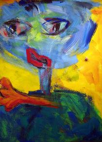Blaue Figur von Annette Kunow
