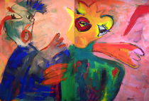 Carnevale I (Diptychon) by Annette Kunow