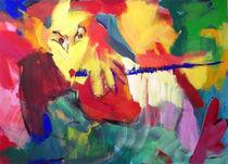 Satyr spielt zum Gesang des Waldes by Annette Kunow