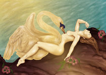Leda and the Swan by Julia Feroglio