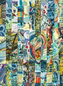 Rechtecke Collage (Reste Collage) by Heinz-Friedrich Kaiser