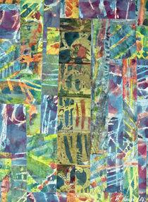 Quad Collage (Reste Collage, Mischtechnik) von Heinz-Friedrich Kaiser