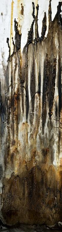 Wachsbrand L (linkes Pannel eines Triptychons) von Heinz-Friedrich Kaiser