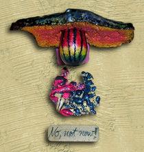 No, not NOW! (Objekt Kunst - front view) by Heinz-Friedrich Kaiser