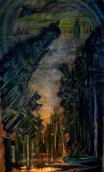 Darktown Spachteltechnik Towers Kollektion von A.Ralph Temmel