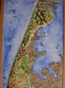 Detail meines Reliefbildes Nordseeinsel Sylt von Ottmar Gebhardt
