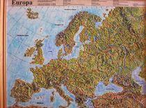 Europa künstlerisch handmodelliertes Reliefbild von Ottmar Gebhardt