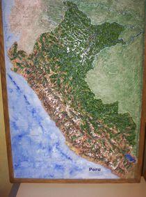 Reliefbild Peru einzigartig handmodelliert von Ottmar Gebhardt