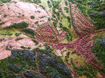 Reliefbild handmodelliert maßstabgerecht  von Ottmar Gebhardt