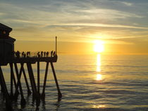 Huntigton Beach Pier at Main Street, California von Willy Matheisl