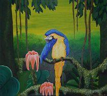 Papagei im Paradies by Annett Lüllepop