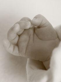 kleine Hand vom Säugling von Christine Bässler