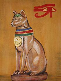 Bastet Ägyptische Katzengottheit by Christine Bässler