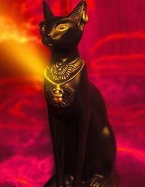 Bastet die Katzengöttin by Cloude Vigal << Grafiknaturearts