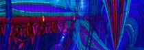 Blauer Sprung von Cloude Vigal << Grafiknaturearts