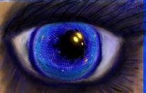 Blauauge -oculus von regenbogenfloh