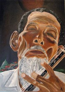 Vietnamesischer Musiker von Karl-Heinz Schmelz
