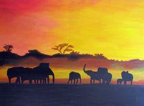 Afrikanischer Sonnenuntergang von Karl-Heinz Schmelz