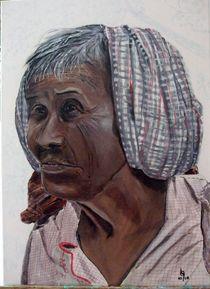Alte Kambodschanerin von Karl-Heinz Schmelz