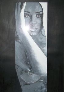spiegelbild  akt  portrait von nele