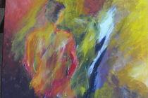 Frau und Pferd by Azam Abrisham