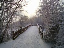 Brücke im Schnee von Peter Norden