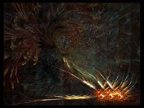 Kampf der Feuervögel um die goldene Ähre von deboracilli