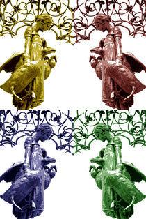 Collage des Gänseliesels von Claudia Hake