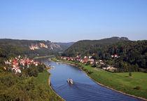 Historische Dampfer auf der Elbe von spiritofnature