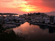 Sonnenuntergang über Agios Nikolaos by Harald Dotter